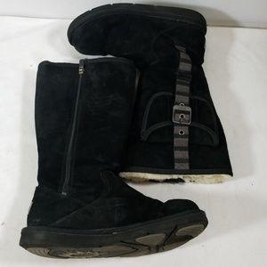 Ugg Australia Black Slip On Winter Boots Size 8